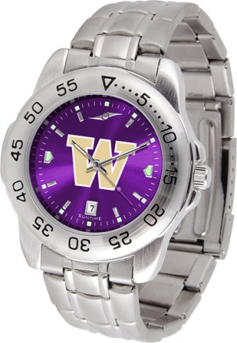 Washington Huskies Sport Steel AnoChrome Men's Watch