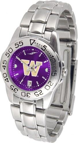 Washington Huskies Sport Steel AnoChrome Women's Watch