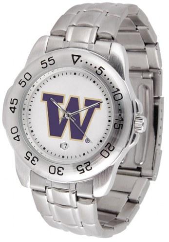 Washington Huskies Sport Steel Men's Watch