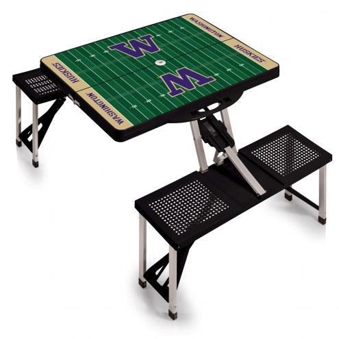 Washington Huskies Sports Folding Picnic Table