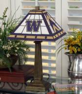 Washington Huskies Stained Glass Mission Table Lamp