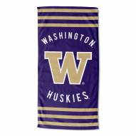 Washington Huskies Stripes Beach Towel