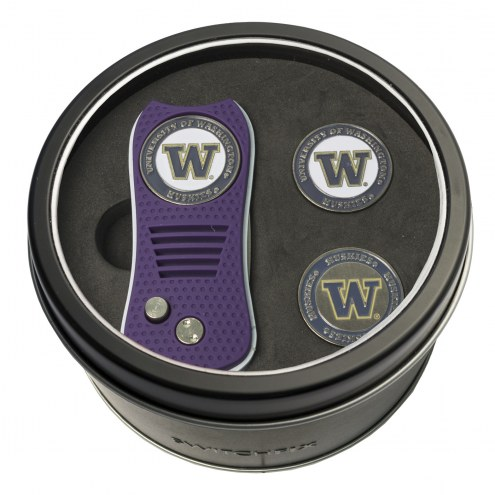 Washington Huskies Switchfix Golf Divot Tool & Ball Markers