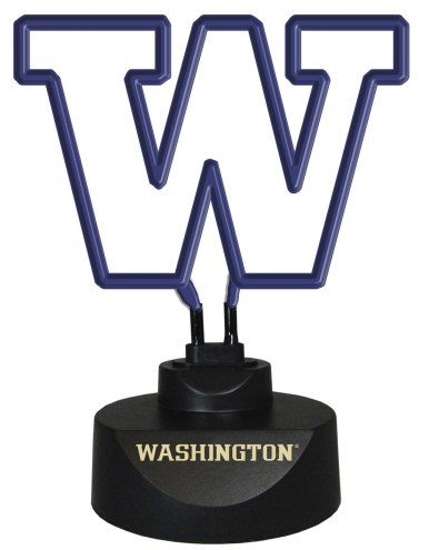 Washington Huskies Team Logo Neon Lamp