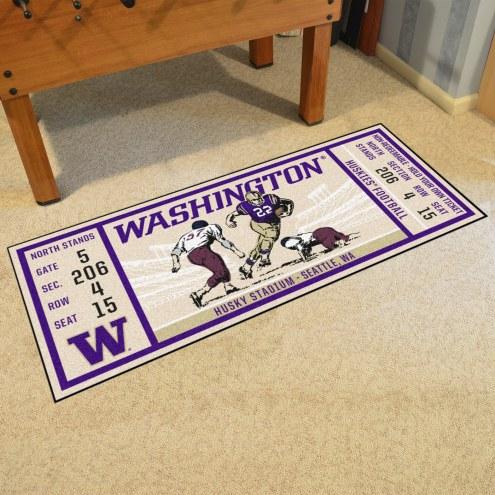 Washington Huskies Ticket Runner Rug