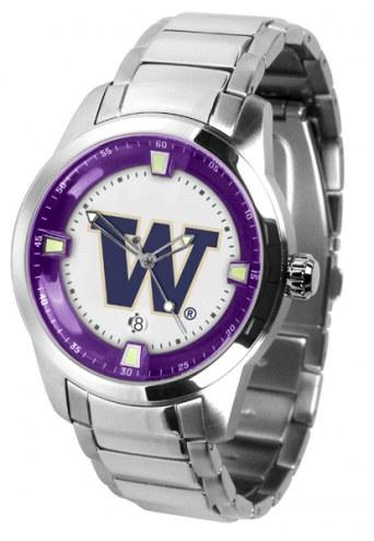 Washington Huskies Titan Steel Men's Watch