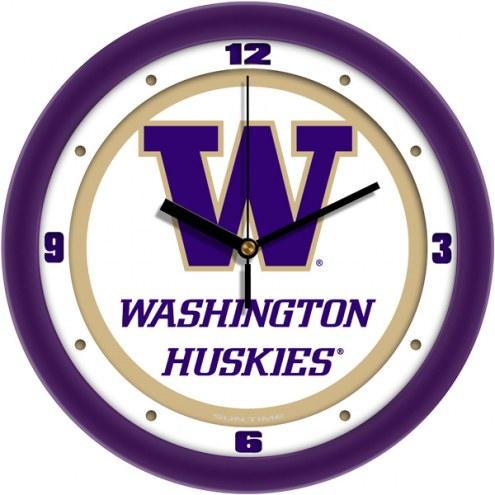 Washington Huskies Traditional Wall Clock
