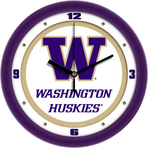 Washington Huskies Traditional Wall Clock