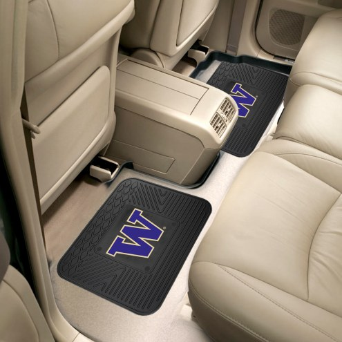 Washington Huskies Vinyl 2-Piece Rear Floor Mats