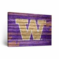 Washington Huskies Weathered Canvas Wall Art