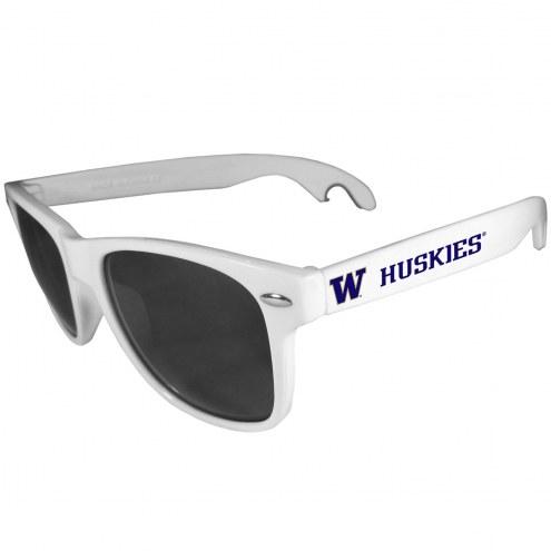 Washington Huskies White Beachfarer Bottle Opener Sunglasses