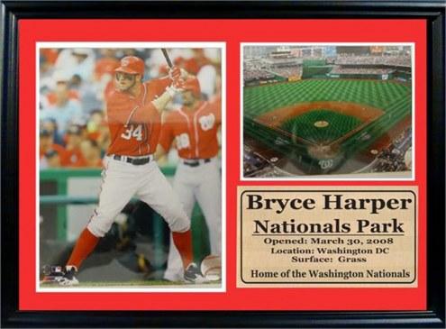 "Washington Nationals 12"" x 18"" Bryce HarperPhoto Stat Frame"