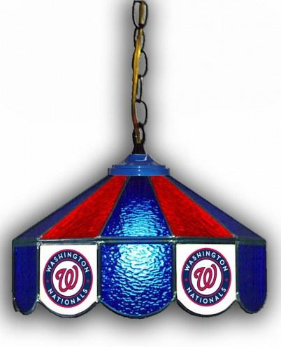 "Washington Nationals 14"" Glass Pub Lamp"