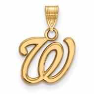 Washington Nationals 14k Yellow Gold Small Pendant