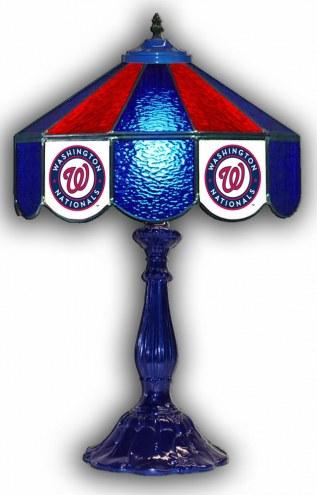 "Washington Nationals 21"" Glass Table Lamp"