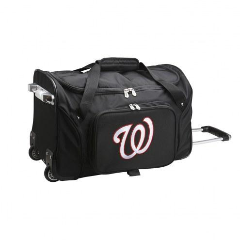 """Washington Nationals 22"""" Rolling Duffle Bag"""