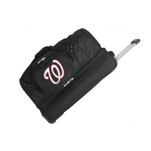 "Washington Nationals 27"" Drop Bottom Wheeled Duffle Bag"