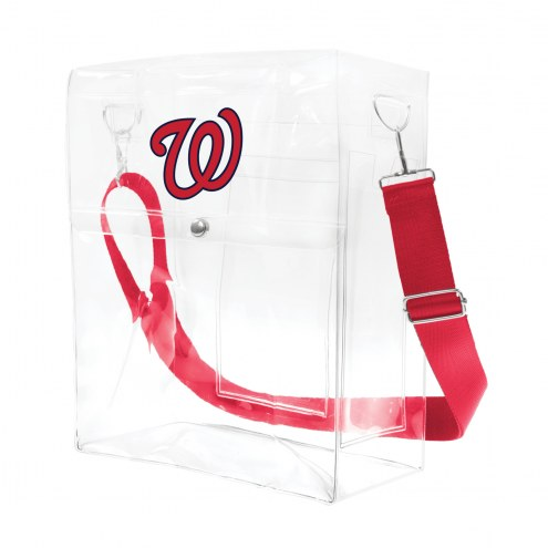 Washington Nationals Clear Ticket Satchel
