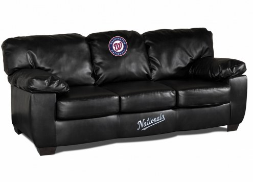Washington Nationals Black Leather Classic Sofa