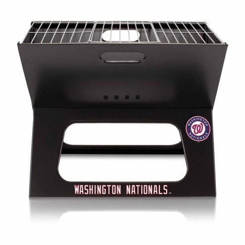 Washington Nationals Black Portable Charcoal X-Grill