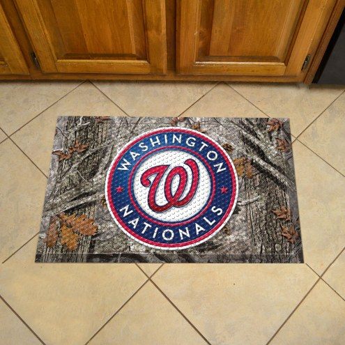 Washington Nationals Camo Scraper Door Mat
