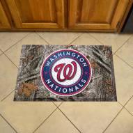 Washington Nationals Camo Scraper Door Mat