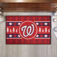 Washington Nationals Christmas Sweater Starter Rug