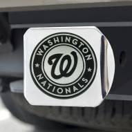 Washington Nationals Chrome Metal Hitch Cover