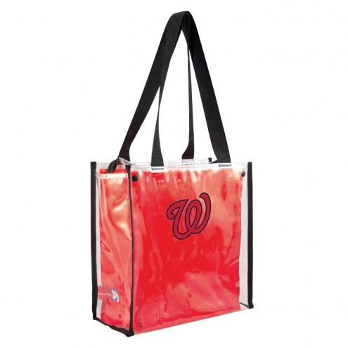 Washington Nationals Convertible Clear Tote