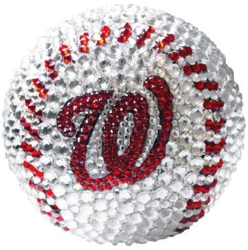Washington Nationals Swarovski Crystal Baseball