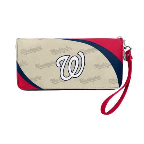 Washington Nationals Curve Zip Organizer Wallet