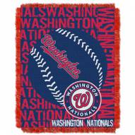 Washington Nationals Double Play Jacquard Throw Blanket