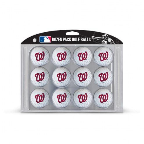 Washington Nationals Dozen Golf Balls