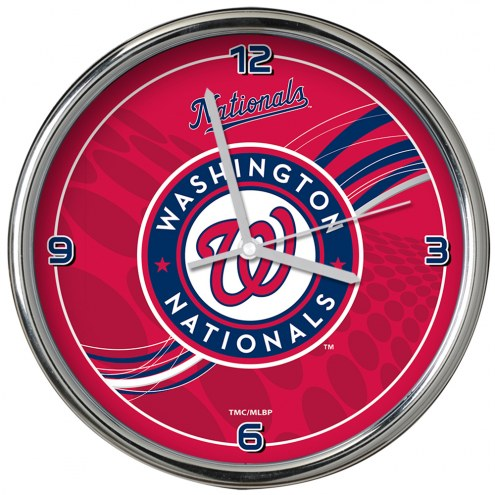 Washington Nationals Dynamic Chrome Clock