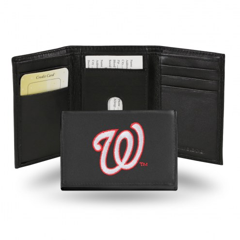 Washington Nationals Embroidered Leather Tri-Fold Wallet