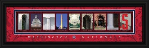 Washington Nationals Framed Letter Art