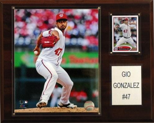 "Washington Nationals Gio Gonzalez 12"" x 15"" Player Plaque"