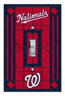 Washington Nationals Glass Single Light Switch Plate Cover
