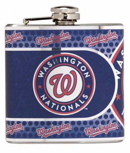 Washington Nationals Hi-Def Stainless Steel Flask