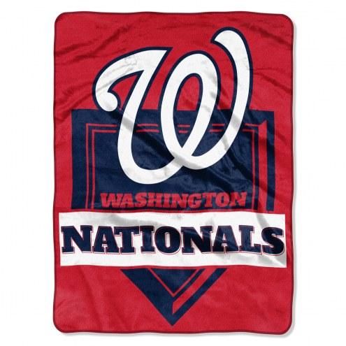 Washington Nationals Home Plate Plush Raschel Blanket