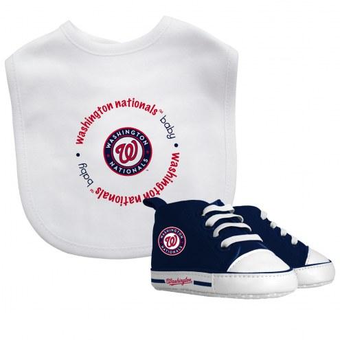 Washington Nationals Infant Bib & Shoes Gift Set