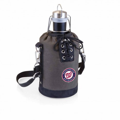 Washington Nationals Insulated Growler Tote with 64 oz. Stainless Steel Growler