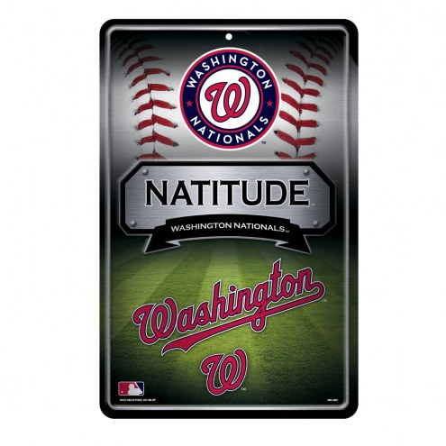 Washington Nationals Large Embossed Metal Wall Sign