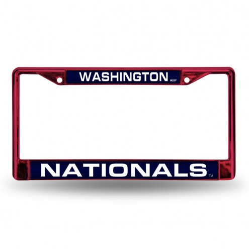 Washington Nationals Laser Colored Chrome License Plate Frame