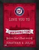 Washington Nationals Love You to and Back Framed Print