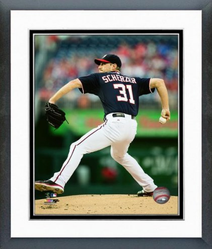 Washington Nationals Max Scherzer Action Framed Photo