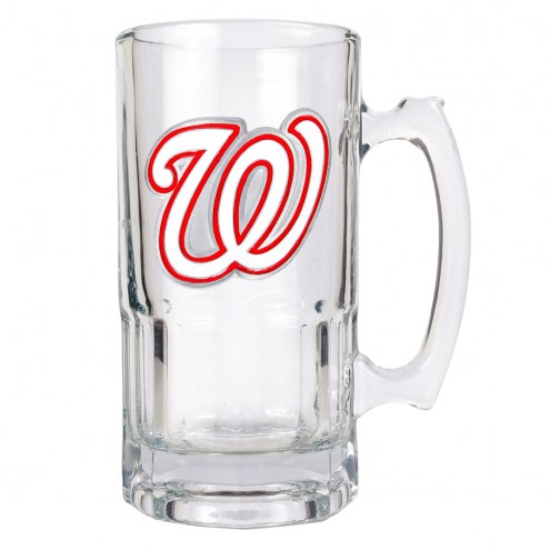 Washington Nationals MLB 1 Liter Glass Macho Mug