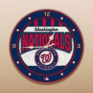Washington Nationals MLB Stained Glass Wall Clock