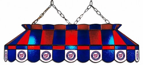 "Washington Nationals MLB Team 40"" Rectangular Stained Glass Shade"