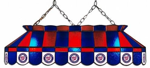 "Washington Nationals MLB Team 40"" Rectangular Stained Glass Shade"